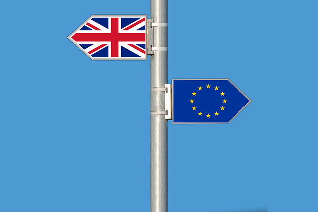 British and EU flags