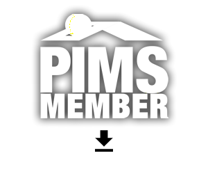 pims member badge white