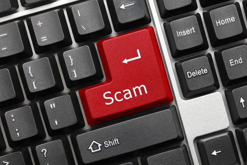 online scam concept image