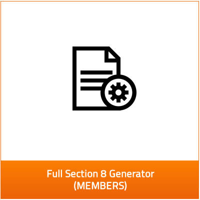 our full section 8 generator - members only