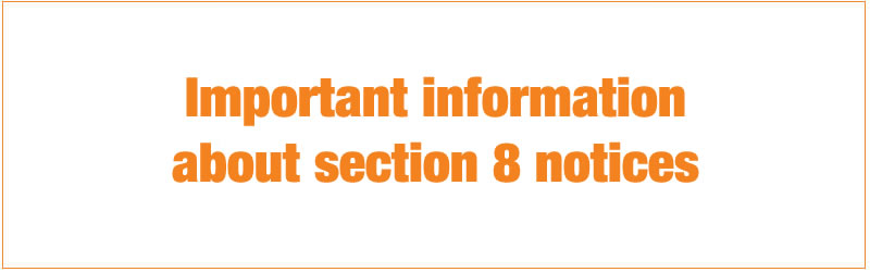 important information about section 8 notices