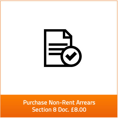 non-rent arrears section 8 for £8.00